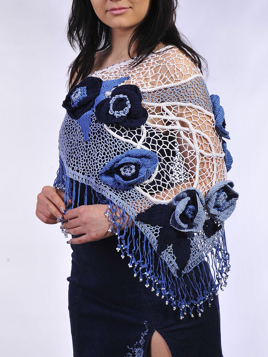 Cotton Lacy Shawl