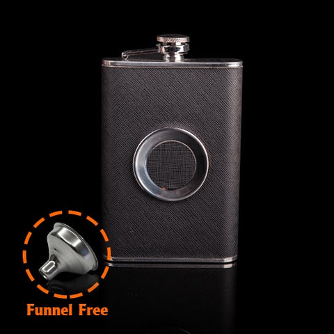 Hot Sale personality SHOT Flask 1pc 8 oz Food Grade Stainless Steel Hip Flask drinkware Alcohol Liquor Whiskey Bottle gifts