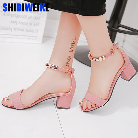 Women Sandals Open Toe shoes Women's Sandles Square heel Women Shoes Korean Style Gladiator Shoes m668