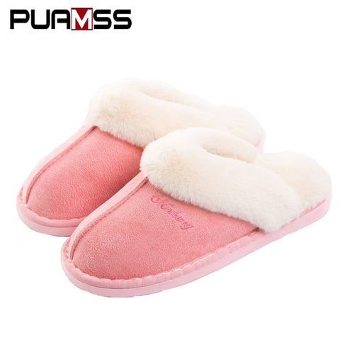 Slippers Women Slippers Cotton Sheep Lovers Home Slippers Indoor Plush Size House Shoes Woman wholesale