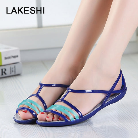 Candy Color Women Sandals Croc Jelly Shoes  Flat Sandals Mixed Colors Ladies Sandals  Women  Flip Flops. Pretty sandals to show off your feet
