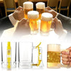 Bar Atmosphere Beer Bubble Foaming Mug Hour Friendly Beer Foam Maker Frothing Cup Beer Glass Party Supplies Beer Foamer Mug