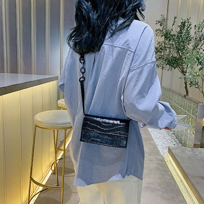 Stone Pattern Crossbody Bags For Women 2019 Small Pu Leather Purses and Handbags New Designer Ladies Shoulder Messenger Bag