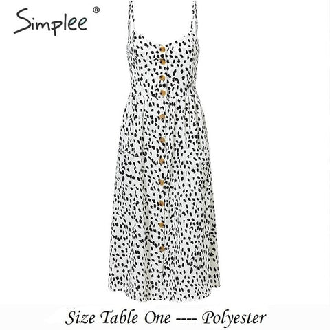 Simplee Elegant button women dress Pocket polka dots yellow cotton midi dress Summer casual female