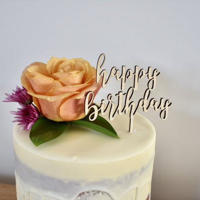 Happy Birthday Cake Topper Small
