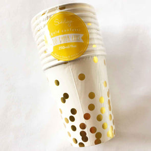 Confetti gold paper party cups