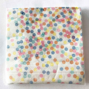 Confetti coloured paper party serviettes