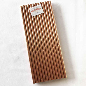 Metallic Rose Gold Paper Straws
