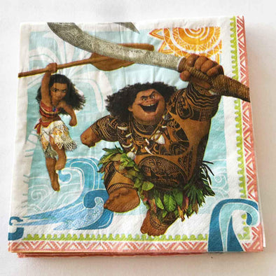 Disney Moana paper party serviettes
