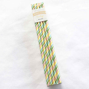 Multi Coloured Stripe Paper Straws
