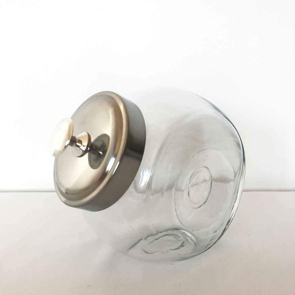 Candy Jar with Silver Lid Party Hire