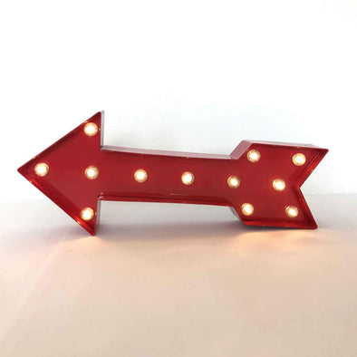 Metal Arrow Light-Up Sign Party Hire