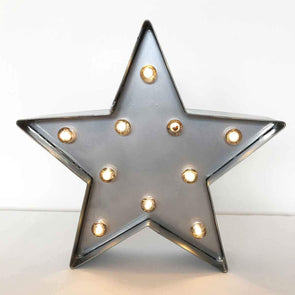 Metal Star Light-Up Sign Party Hire