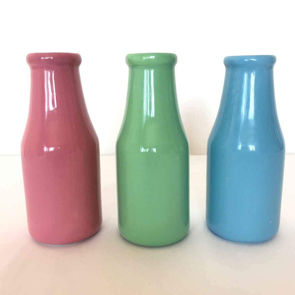 Pastel Milk Bottle Set Party Hire