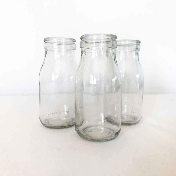 Small Glass Milk Bottle Party Hire