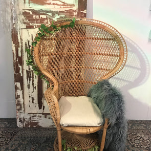 Vintage Peacock Chair