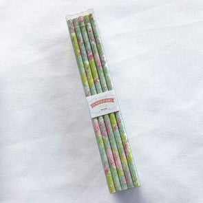 Pastel Floral Paper Straws