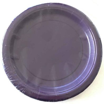 Purple paper party plates