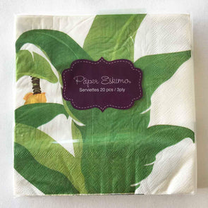Tropical leaf paper party serviettes