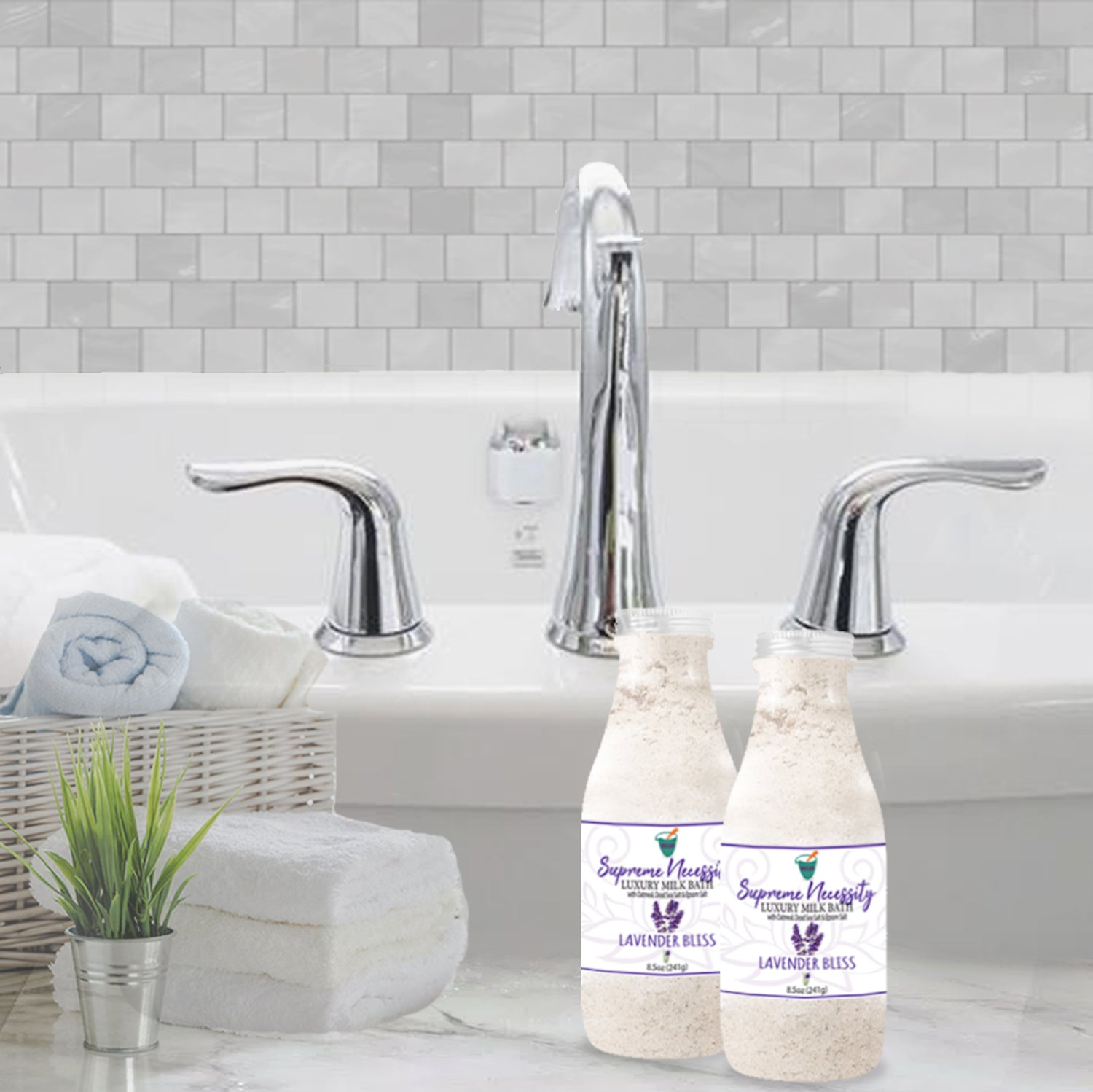 SUPREME NECESSITY LUXURY MILK BATH: LAVENDER BLISS