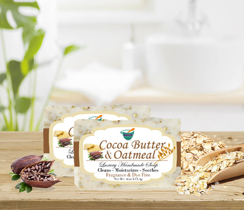 COCOA BUTTER & OATMEAL           4oz BAR SOAP