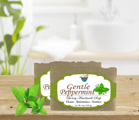 GENTLE PEPPERMINT              4oz BAR SOAP