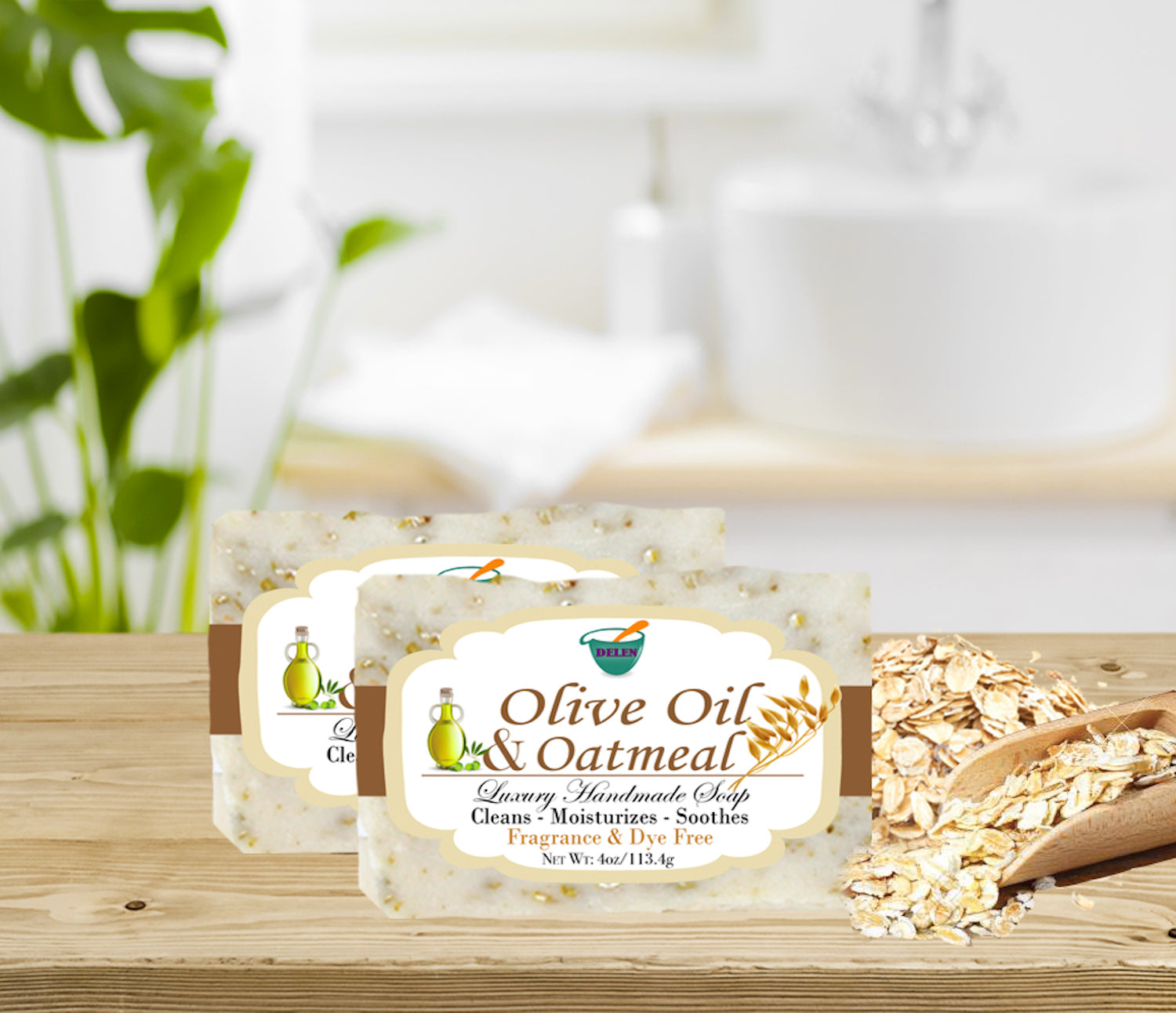 OLIVE OIL & OATMEAL                                                   4oz BAR SOAP