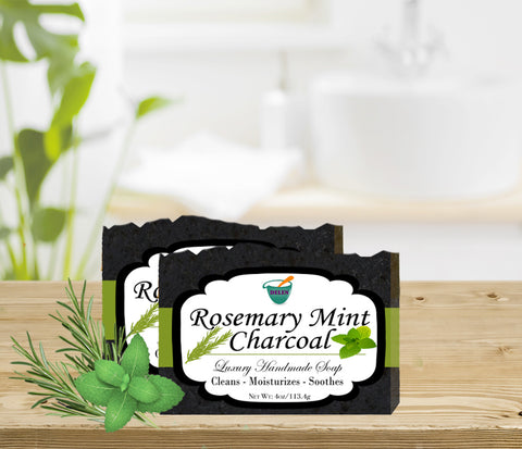 ROSEMARY MINT CHARCOAL               4oz BAR SOAP