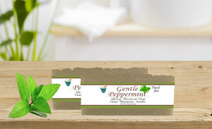 GENTLE PEPPERMINT              2oz BAR SOAP