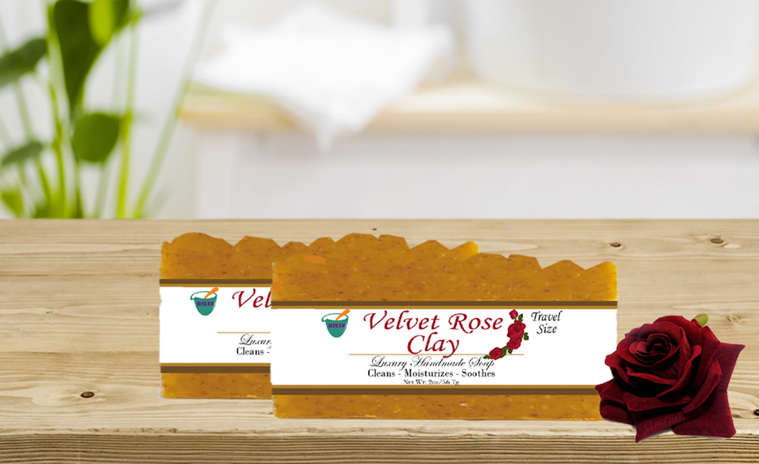 VELVET ROSE CLAY                   2oz BAR SOAP