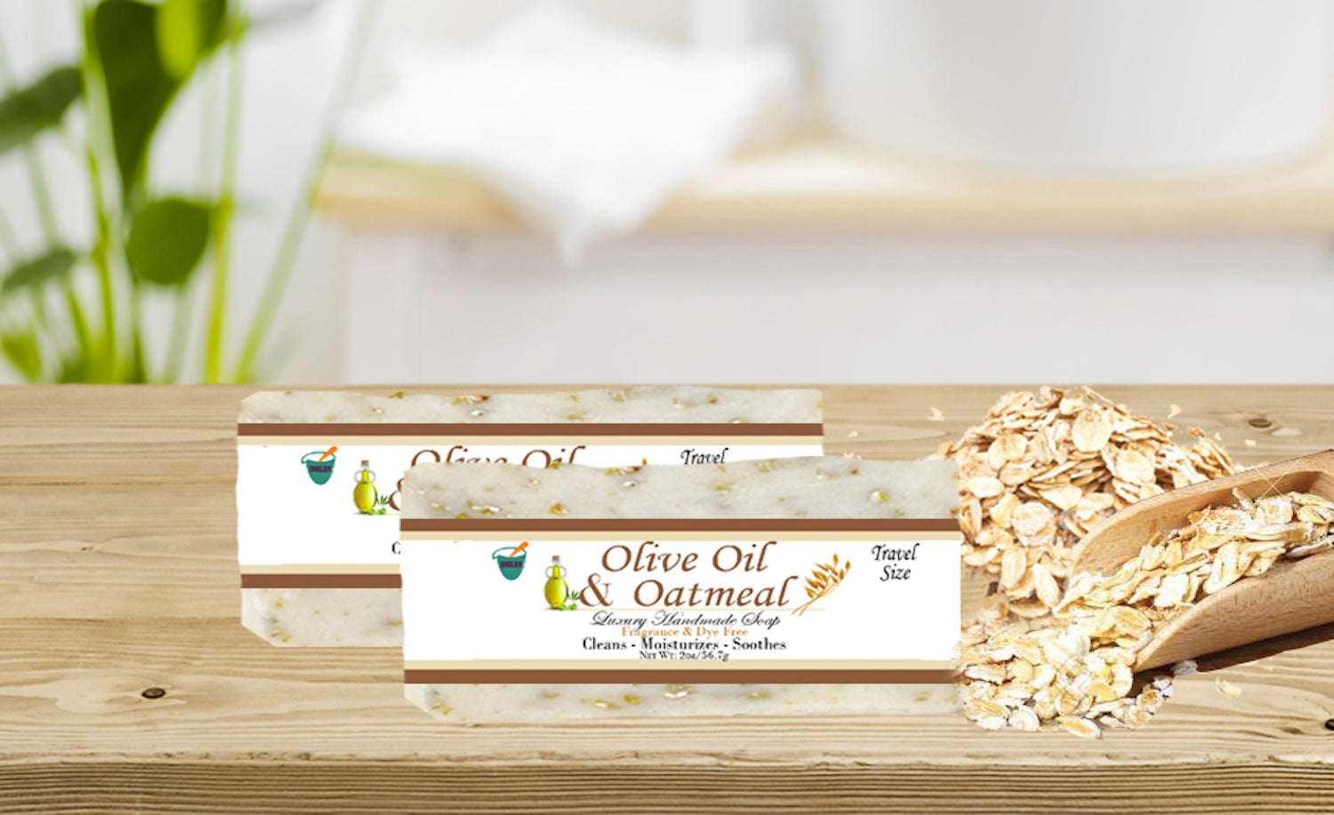 OLIVE OIL & OATMEAL                                                   2oz BAR SOAP