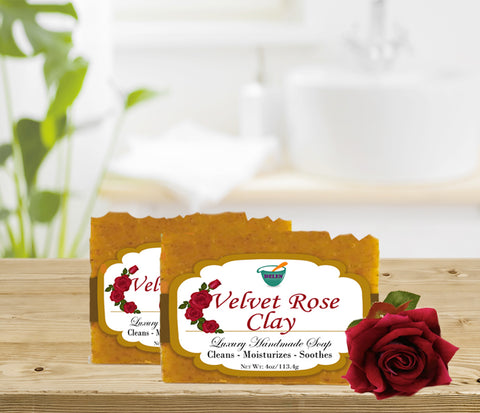 VELVET ROSE CLAY                   4oz BAR SOAP