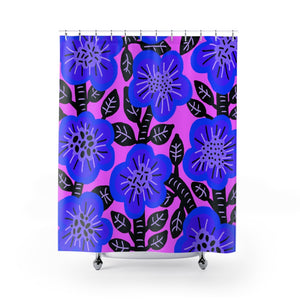 Open image in slideshow, Blueberry Bush Shower Curtain