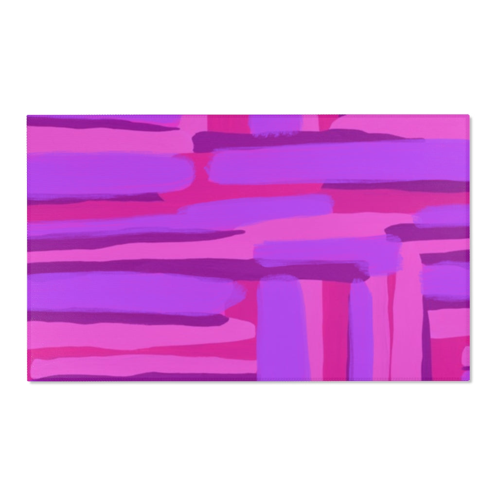 Pink Abstract Area Rug - ARTBYOPAL