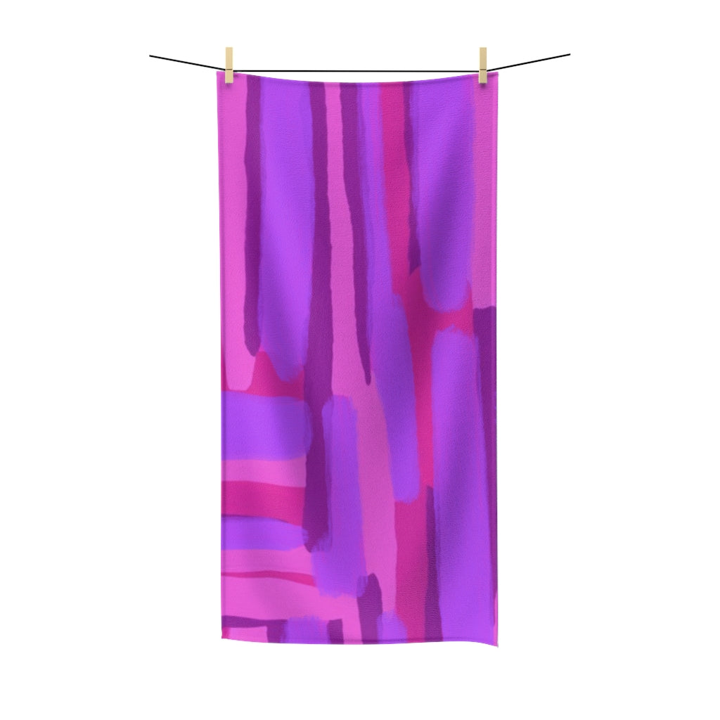 Pink Abstract Towel - ARTBYOPAL