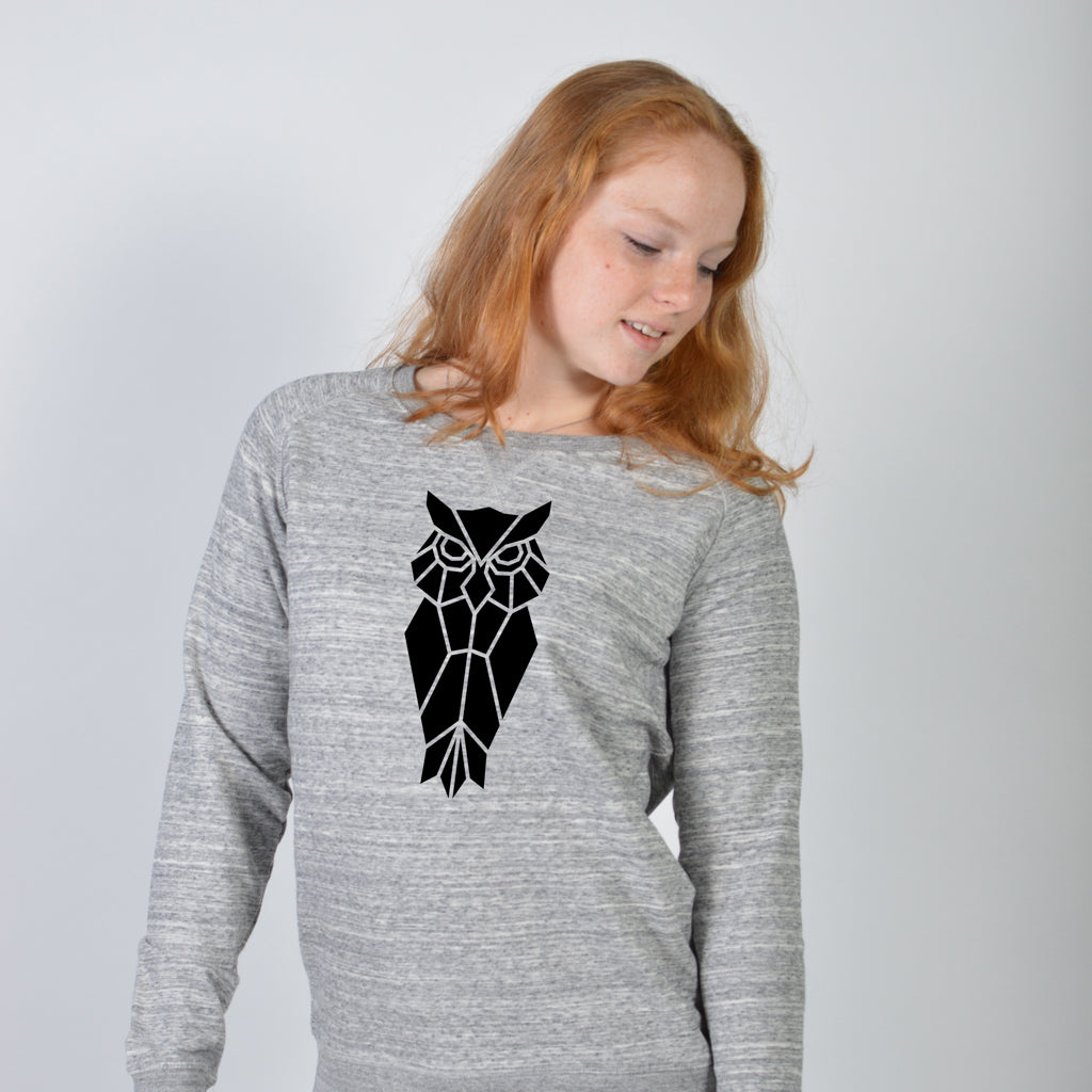 Dames sweater - Uil vlakken