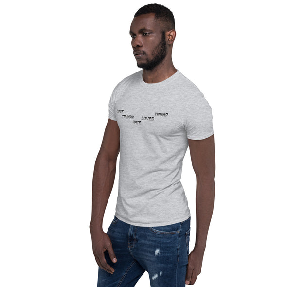 LOVE TRUMPS HATE  HATE LOVES TRUMP Short-Sleeve Unisex T-Shirt.
