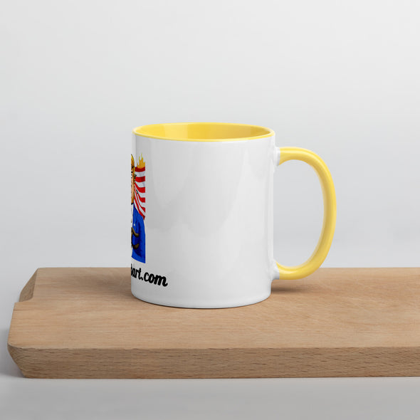Ceramic Mug With Inside Colors.
