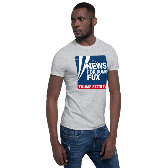 DUMBFUX News Trump TV Short-Sleeve Unisex T-Shirt.