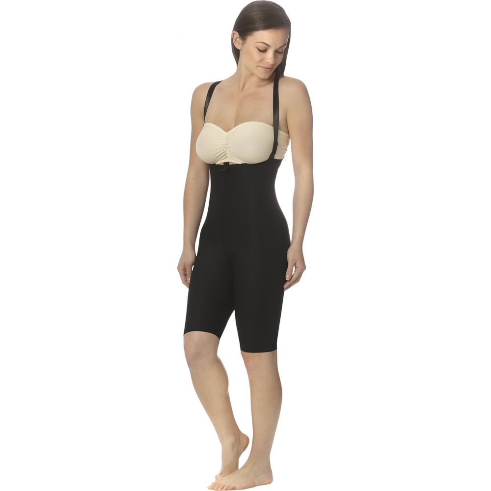 Marena Above-the-Knee Girdle with Suspenders - Zipperless