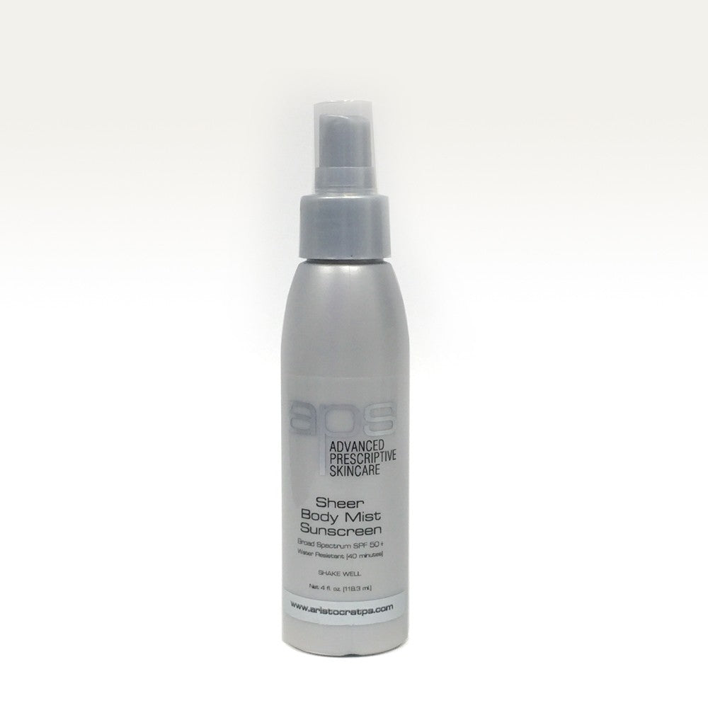 APS Sheer Body Mist Sunscreen SPF 50 (Sold by Aristocrat Plastic Surgery)
