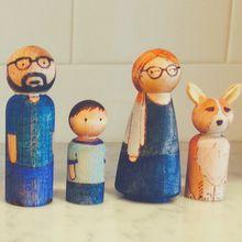 Load image into Gallery viewer, Small Custom Peg Doll (Child for Family Set)