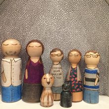 Load image into Gallery viewer, Large Custom Peg Doll (Adult for Family Set)
