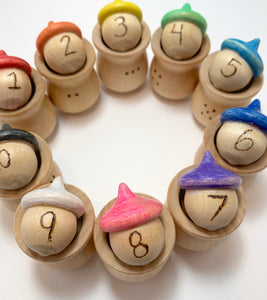 Rainbow Acorn Counting Toy