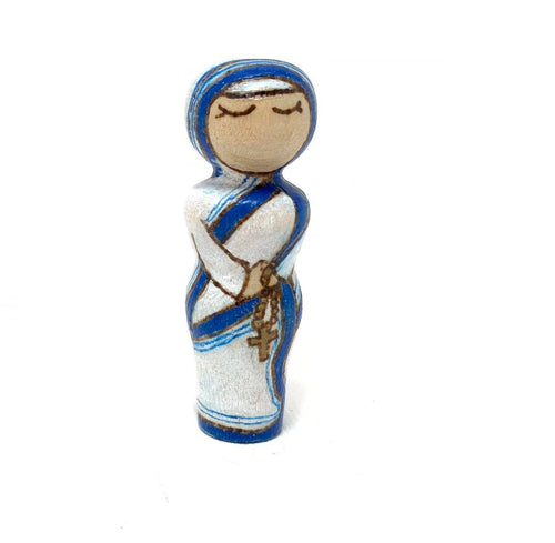Mother Teresa Strong Woman Peg Doll