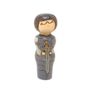 Joan of Arc Strong Woman Peg Doll