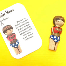 Load image into Gallery viewer, Wonder Woman Strong Woman Peg Doll