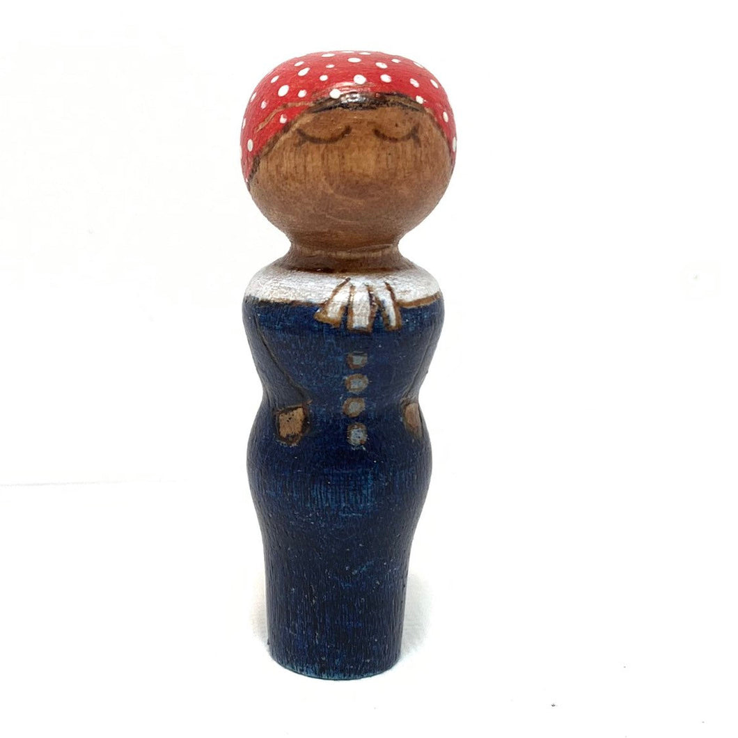 Harriet Tubman Strong Woman Peg Doll