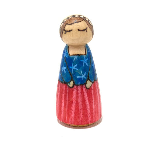 Betsy Ross Strong Woman Peg Doll