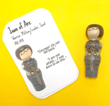 Load image into Gallery viewer, Joan of Arc Strong Woman Peg Doll